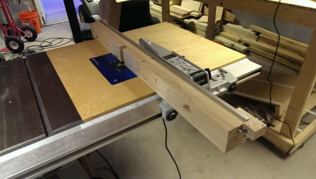 Adding a table saw router table extension did it myself its all shiny keyboard keysfo