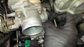 Plug near throttle body
