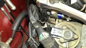 Ground wire behind intake manifold