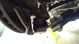 New ball joint in place, with the grease zerk on