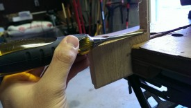 A chisel easily makes this square