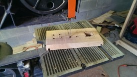 Bandsaw works for the door