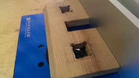 Finishing front on the router table