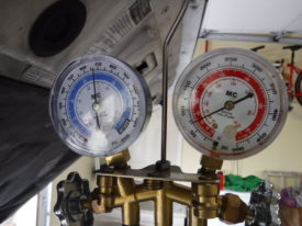 Compressor off - gauges read approximately the same