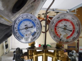 Compressor kicked on - high gauge goes up and low gauge drops