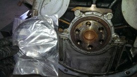 Rear main seal next to new Mazda seal