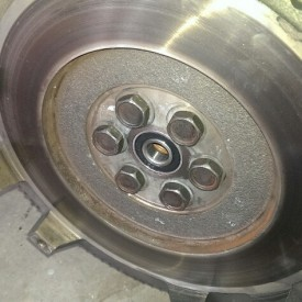 Flywheel after brake clean
