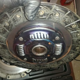 Clutch in proper orientation