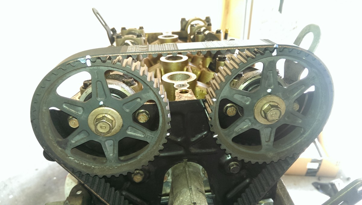 Miata Timing Belt Water Pump And Seals Did It Myself 3sgte Tensioner Marks On Cam Gears