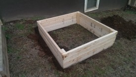 4'x4' raised bed on a slope