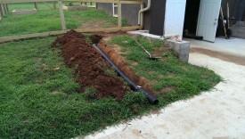 Burying line