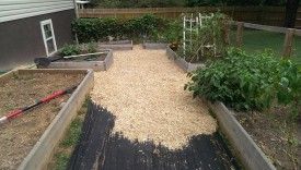 Some mulch added