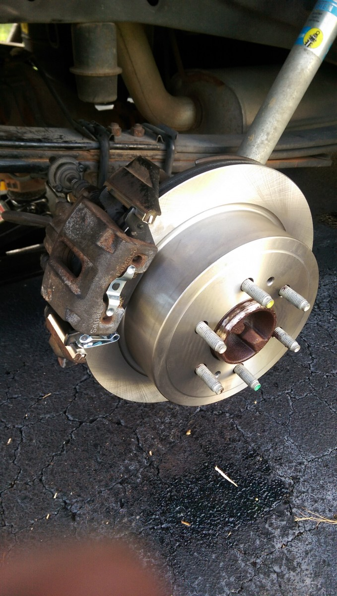 Changing Brakes On An 09 14 F150 Did It Myself When To Change Brake Pads Install The Into Caliper And Slide With Noise Damper Bolt Follow Appropriate Torque Specs For Uh Bottom