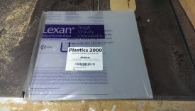 "Lexan (12x12 sheet from amazon, ~1/4"" thick)"