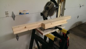 Cutting off the sides on the miter saw