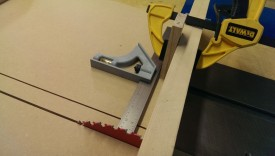 A crosscut sled with a stop block made it easy to separate into 3 pieces