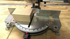 Miter saw cutting 5 degree angles