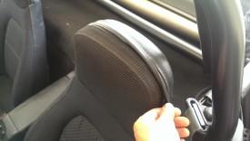 Headrest has a zipper