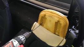 Drilling left speaker