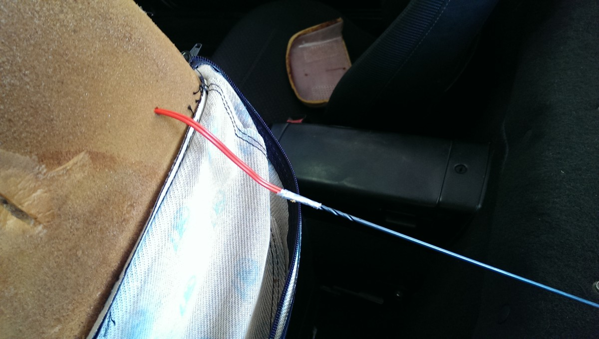 Diy Miata Headrest Speakers Did It Myself Automotive Wiring For Home Audio Feeding Wire To The Back Of Seat