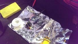 Soldering on foil