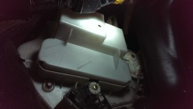 Heater core in driver's footwell, right side near accelerator