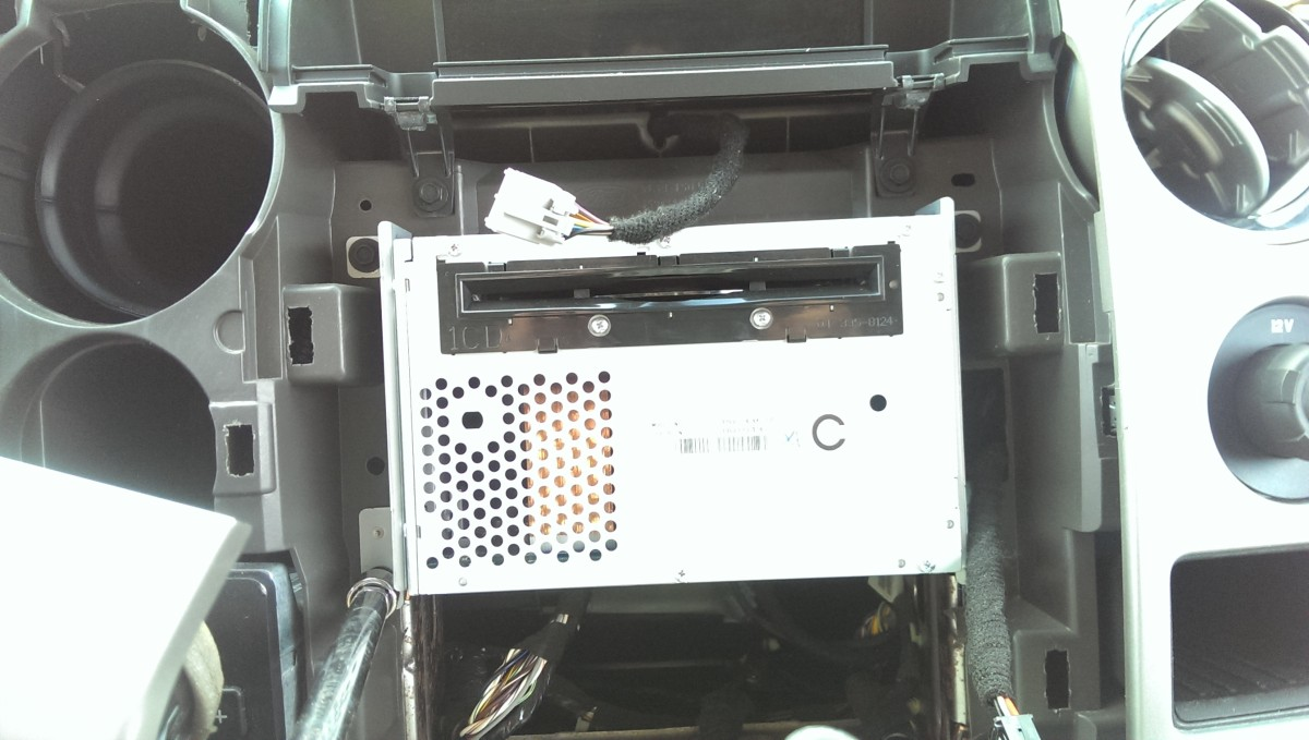 Replacing An F 150 Blend Door Actuator For Hvac 2009 2014 Did It 1996 Ford Fuse Box Removal Radio Has 4 Screws