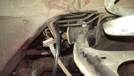Threading through the brake lines helped hold it