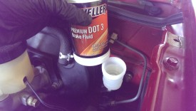 Top off the master with fresh brake fluid