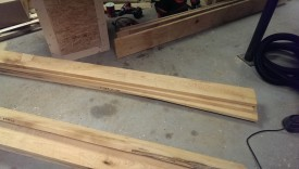 About 60 board feet of rough lumber