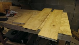 Rough cut the lumber to a little longer than required