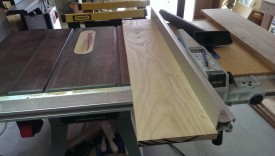 The flat edge can run against the fence of your table saw
