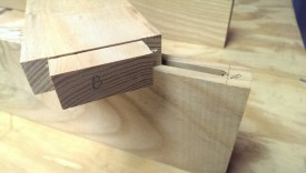 The tenon roughed out against the mortise