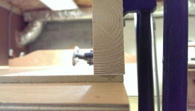 Have the flattened 2x4 proud of the template surface