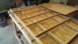 Wider dado cuts on the outsides