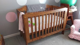 Spoiler alert: here's what the finished crib looks like