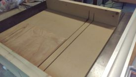 Small crosscut sled made short work of these panels