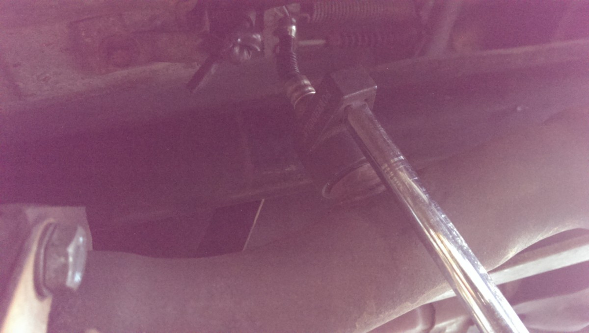 Miata O2 Sensor Replacement Did It Myself Obd1 Wiring Diagram 1990 Ford Mustang Loosening The Rear