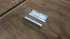 Cut aluminum angle