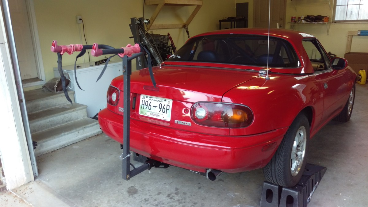 Tow Hitch Bike Rack >> Miata Hitch Installation - Did It Myself