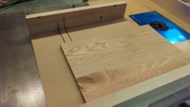 Use a crosscut sled to cut to final length