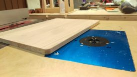 I rounded the table top edges on the router table
