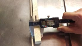 Measuring button thickness