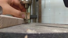 Setting the drill press depth