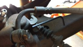 Allen key in brake adjustment screw