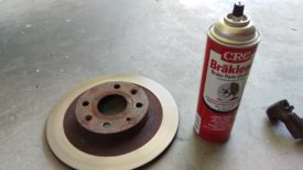 Cleaning with brake cleaner