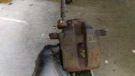 Front caliper removed