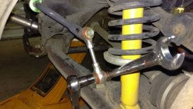 Sway bar end link removal as before