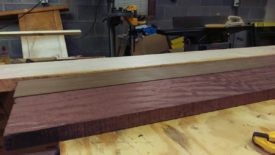 The louro preto and purpleheart are already mostly milled