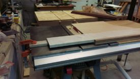 I used my big table saw sled for the longer pieces